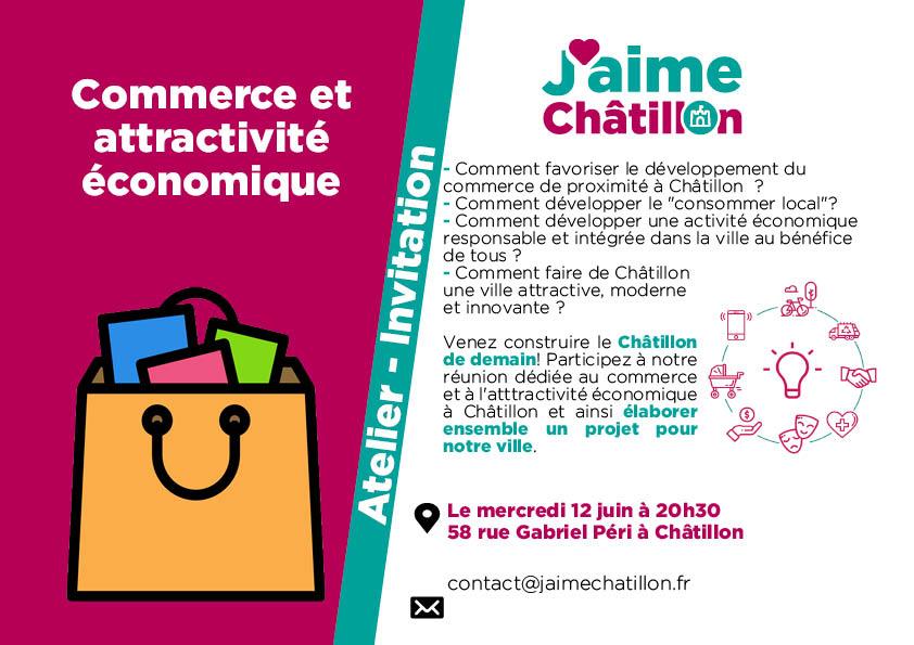 Invitations web réunions thématiques commerce A4